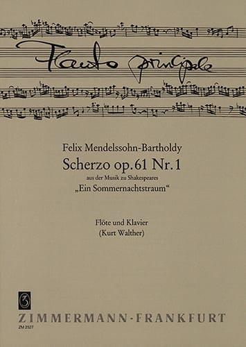 MENDELSSOHN - Scherzo op. 61 n ° 1 - Flöte Klavier - Partition - di-arezzo.co.uk