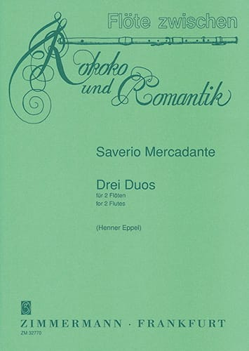 Saverio Mercadante - 3 Duos - 2 Flöten - Partition - di-arezzo.fr