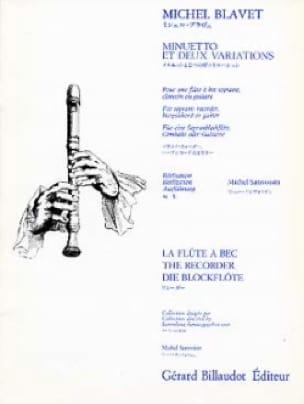 Minuetto et deux variations - Michel Blavet - laflutedepan.com