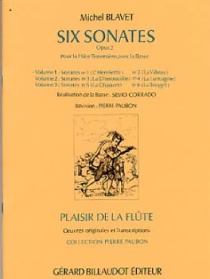 Michel Blavet - 6 Sonatas Op. 2 - Volume 1 - Partition - di-arezzo.co.uk