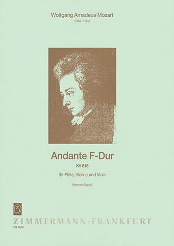 Andante F-Dur Kv 616 - MOZART - Partition - Trios - laflutedepan.com