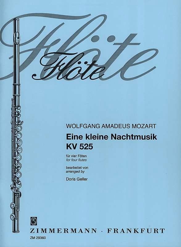 MOZART - Eine kleine Nachtmusik KV 525 - 4 Flöten - Partition - di-arezzo.co.uk