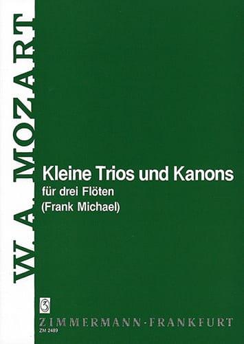 Kleine Trios und Kanons - 3 Flöten - MOZART - laflutedepan.com