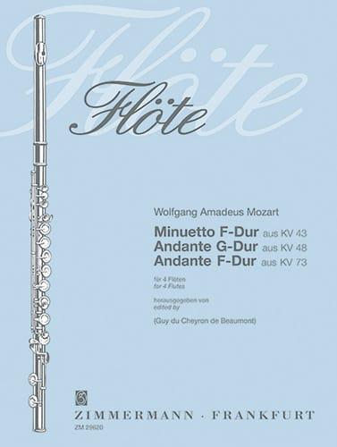 Minuetto KV 43 - Andante KV 48 u. 73 - 4 Flöten - laflutedepan.com
