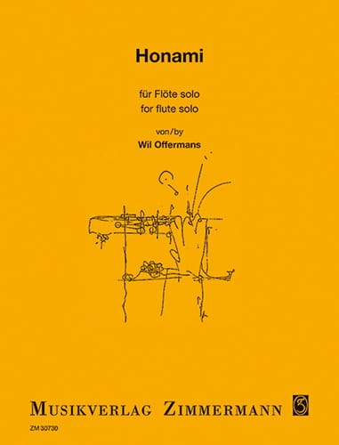 Honami - Flöte solo - Wil Offermans - Partition - laflutedepan.com