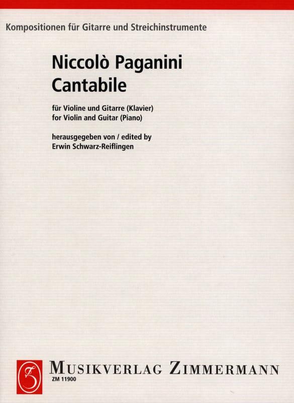 Niccoló Paganini - Cantabile - Partition - di-arezzo.co.uk