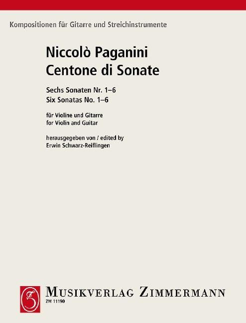 Niccoló Paganini - Sonaten Sonata Sonata - Violin Gitarre - Partition - di-arezzo.co.uk