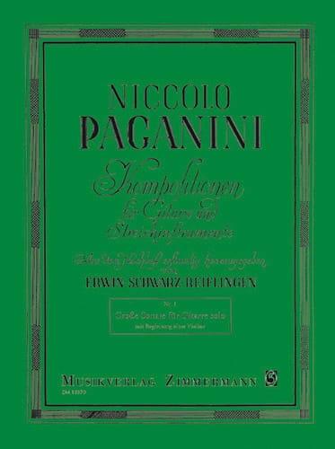 Niccoló Paganini - Big Sonata - Violin Gitarre - Partition - di-arezzo.co.uk