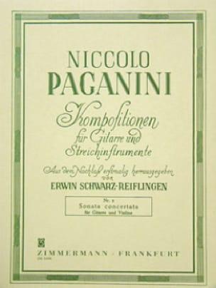 Niccoló Paganini - Sonata Concertata - Partition - di-arezzo.co.uk