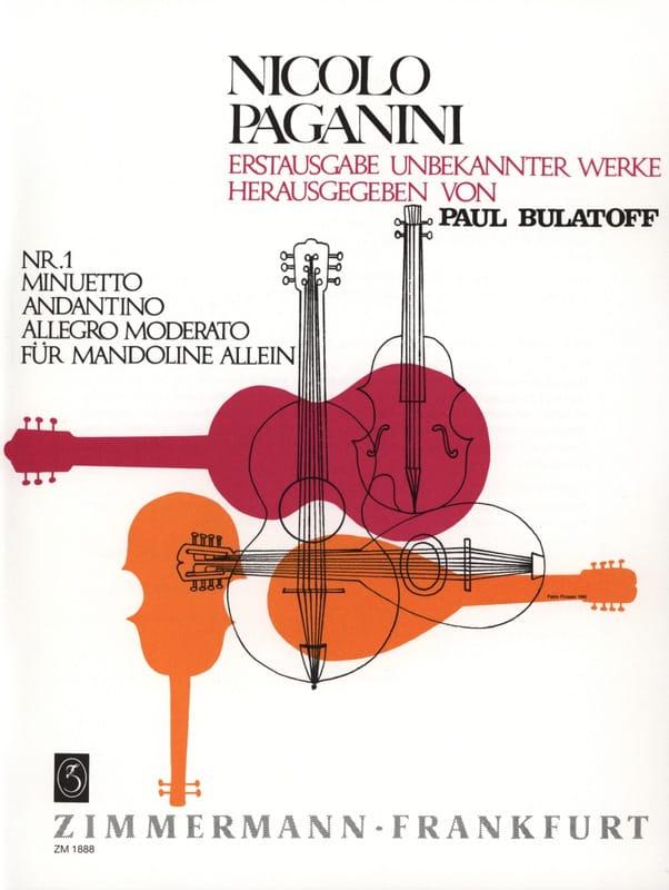 Minuetto, Andantino und Allegro moderato - PAGANINI - laflutedepan.com