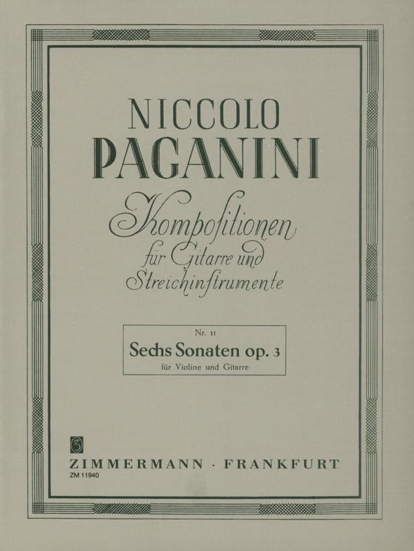Niccolò Paganini - 6 Sonaten Op. 3 - Violin Gitarre - Partition - di-arezzo.co.uk