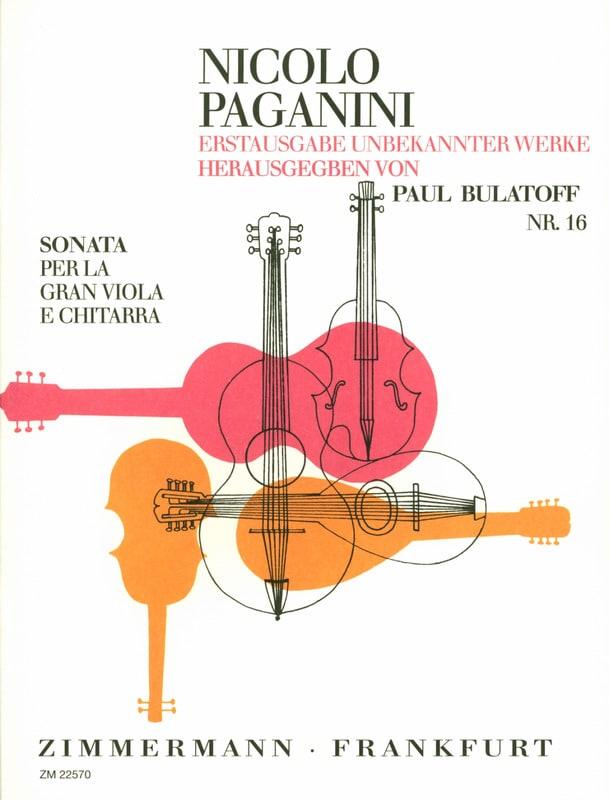 Niccolò Paganini - Sonata for the Gran Viola e Chitarra - Partition - di-arezzo.co.uk