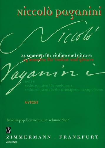 Niccolò Paganini - 24 Sonaten for Violine und Gitarre - Heft 2 - Partition - di-arezzo.co.uk