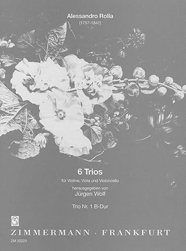 Alessandro Rolla - 6 Trios - Nr. 1 B-Dur - Partitur Stimmen - Partition - di-arezzo.com