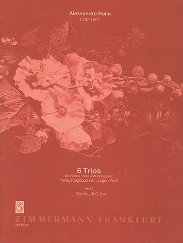 Alessandro Rolla - 6 Trios - Heft 1: Nr. 18 G-Dur - Stimmen - Partition - di-arezzo.co.uk