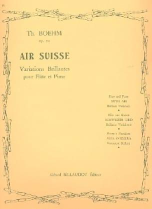 Air suisse op. 20 - Theobald Boehm - Partition - laflutedepan.com