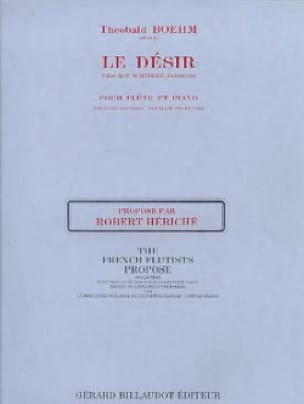 Theobald Boehm - Desire op. 21 - Flute and piano - Partition - di-arezzo.co.uk