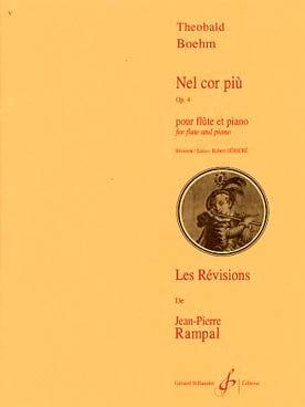 Theobald Boehm - Nel cor piu op. 4 - Piano flute - Partition - di-arezzo.co.uk