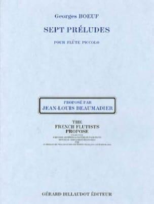 7 Préludes - Georges Boeuf - Partition - laflutedepan.com