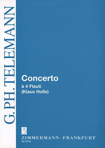 Concerto A 4 Flauti C-Dur Do M. - 4 Flûtes - laflutedepan.com