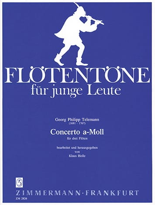 Concerto a-moll - 3 Flöten - TELEMANN - Partition - laflutedepan.com