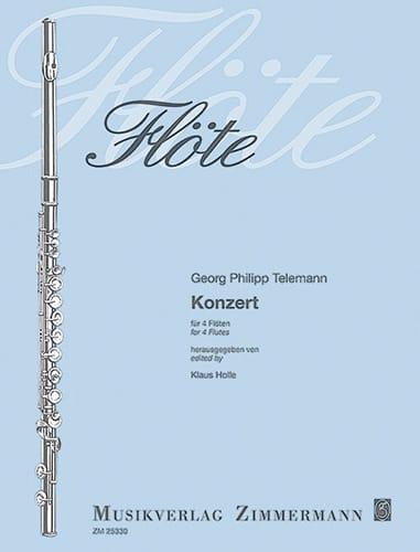 Concerto Pour 4 Flûtes - TELEMANN - Partition - laflutedepan.com