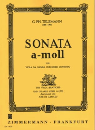 Sonate en LA mineur pour Alto et Guitare - TELEMANN - laflutedepan.com