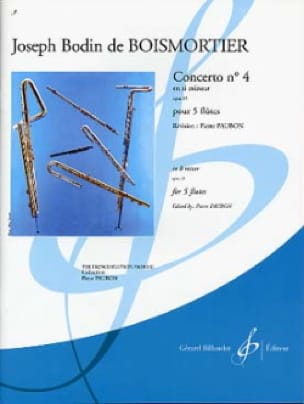 BOISMORTIER - Concerto op. 15 n ° 4 in B minor - 5 Flutes - Partition - di-arezzo.com