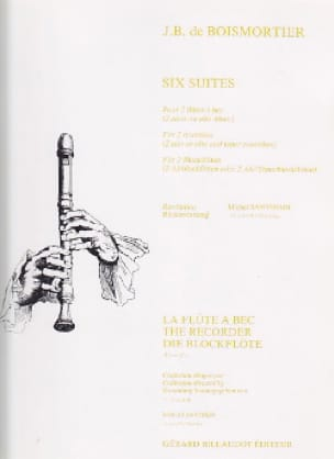 BOISMORTIER - Six Suites - 2 Flutes A Beak Altos Or Alto-Tenor - Partition - di-arezzo.com