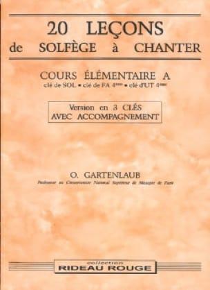 Odette Gartenlaub - 20 Lessons - Elém. A - 3 keys with accompaniment - Partition - di-arezzo.co.uk