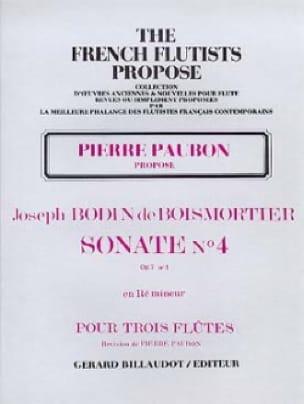 Sonate Op. 7 N° 4 en Ré Mineur - BOISMORTIER - laflutedepan.com
