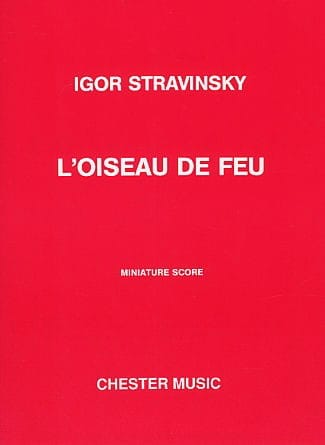 Igor Stravinsky - The Firebird - Continued 1919 - Score - Partition - di-arezzo.co.uk