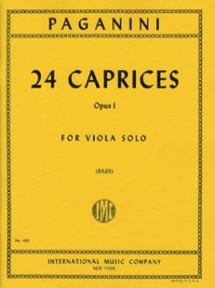 24 Caprices Op. 1 - PAGANINI - Partition - Alto - laflutedepan.com
