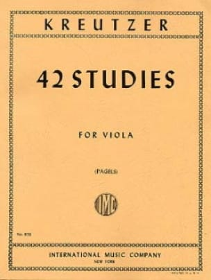 Rodolphe Kreutzer - 42 Studies - Partition - di-arezzo.co.uk