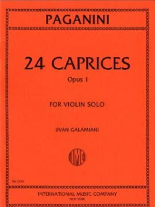 Niccolò Paganini - 24 capricci op. 1 Galamian - Partition - di-arezzo.it
