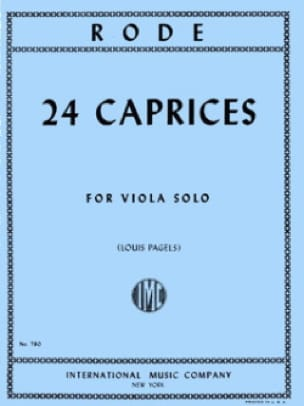 Pierre Rode - 24 Caprices - Viola Pagels - Partition - di-arezzo.co.uk