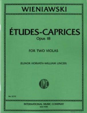 Caprices-Etudes Op.18 - 2 Violas - WIENAWSKI - laflutedepan.com