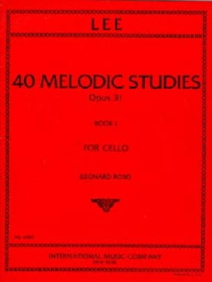 Sebastian Lee - 40 Melodic Studies op. 31 - Volume 1 - Partition - di-arezzo.co.uk