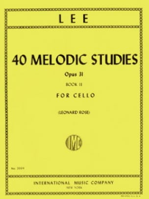 Sebastian Lee - 40 Melodic Studies op. 31 - Volume 2 - Partition - di-arezzo.co.uk