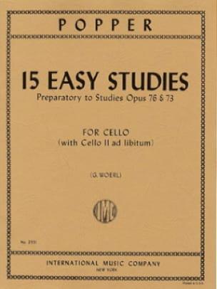 David Popper - 15 Easy Studies - Partition - di-arezzo.co.uk