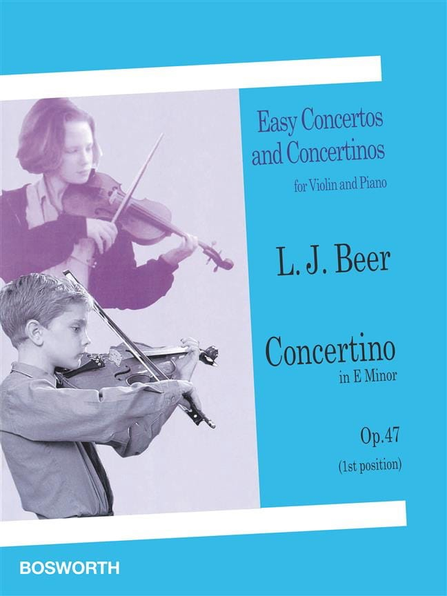 Concertino in E minor op. 47 - Violin - laflutedepan.com