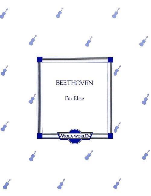 BEETHOVEN - Für Elise - Alto - Partition - di-arezzo.com
