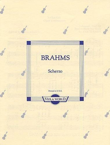 BRAHMS - Scherzo op. posth. - Alto - Partition - di-arezzo.fr