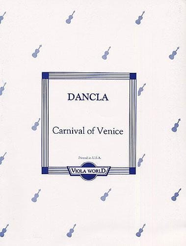 DANCLA - Carnival of Venice - Alto - Partition - di-arezzo.com