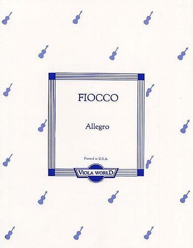 Allegro - Alto - Joseph Hector Fiocco - Partition - laflutedepan.com