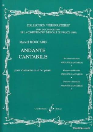 Andante cantabile - Marcel Boucard - Partition - laflutedepan.com