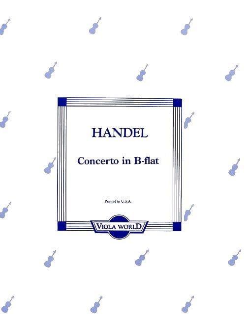 Concerto in B-flat - Viola - HAENDEL - Partition - laflutedepan.com