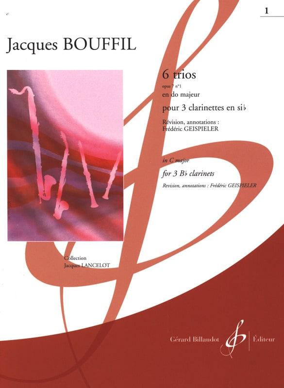 6 Trios - op. 7 n° 1 en ut - Jacques-Jules Bouffil - laflutedepan.com