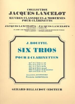 6 Trios - op. 7 n° 2 en ré - Jacques-Jules Bouffil - laflutedepan.com