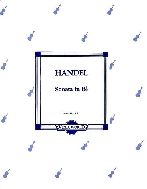 Sonata in B flat - Viola - HAENDEL - Partition - laflutedepan.com